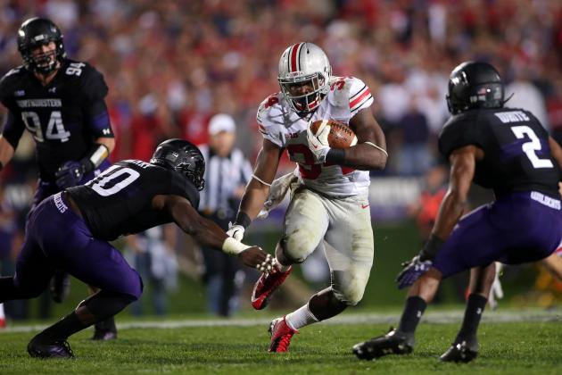 Ohio State Football: Carlos Hyde on the Brink of 1,000-Yard Rushing Season