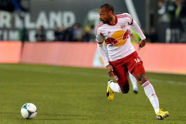 Thierry Henry Training with Arsenal During MLS Winter Break