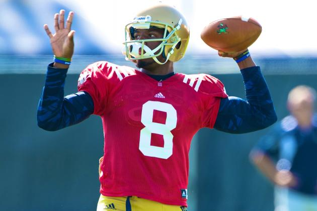 Brian Kelly Says Malik Zaire Will Compete with Everett Golson for 2014 QB Job