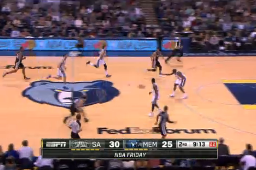 Watch Manu Ginobili Thread the Needle with Sick Pass vs. Memphis Grizzlies