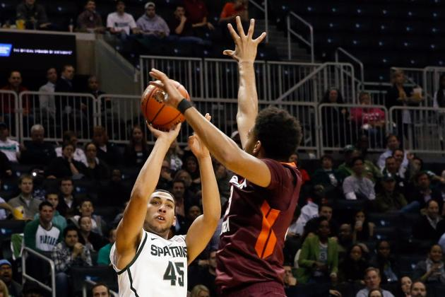 Michigan State vs. Virginia Tech Final Score: No. 1 Spartans Roll, 96-77