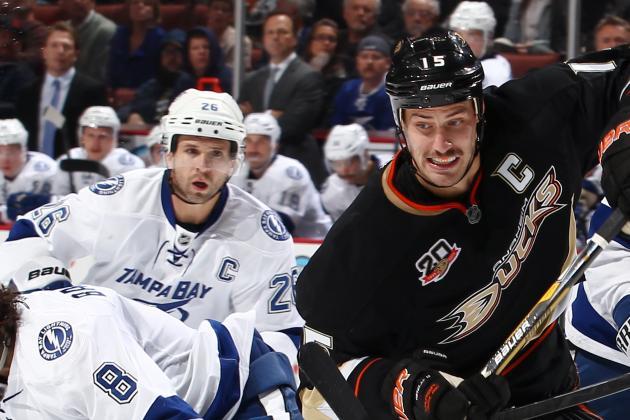 Getzlaf Scores Late in OT, Ducks Beat Lightning