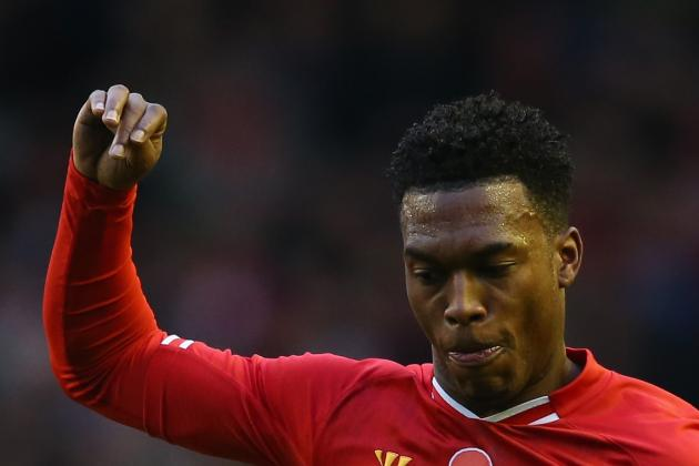 GIF: Daniel Sturridge Rescues 3-3 Draw for Liverpool in Merseyside Derby