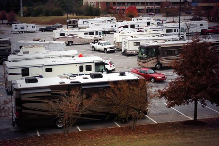 Auburn Tigers Fan RVs Already Filling Parking Lots for Next Weekend's Iron Bowl