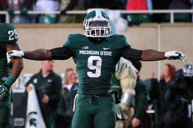 Michigan State DB Isaiah Lewis Ejected for Targeting vs. Northwestern