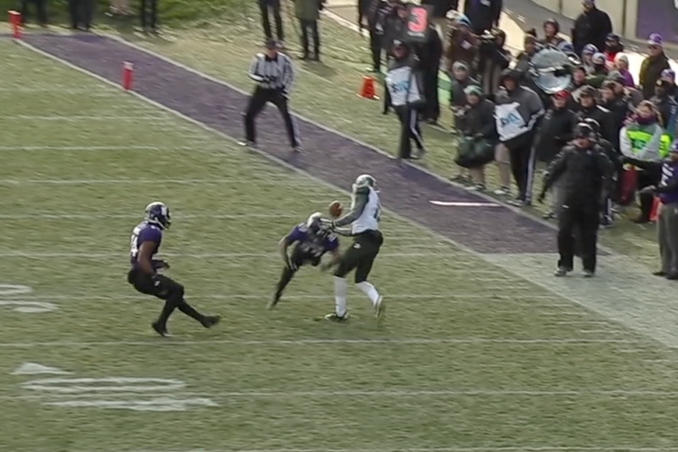 Michigan State WR Bennie Fowler Hauls TD Pass off the Back of a Defender