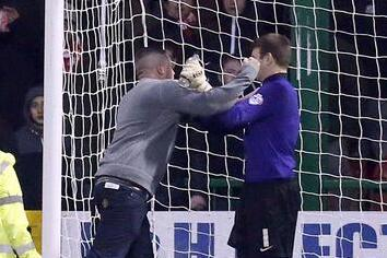 Swindon Town Fan Invades Pitch, Assaults Leyton Orient Goalkeeper