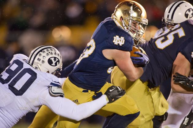 Cam McDaniel Rushes for Career High for Notre Dame vs. BYU