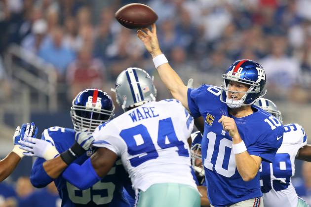 Cowboys vs. Giants: Live Grades and Analysis for New York
