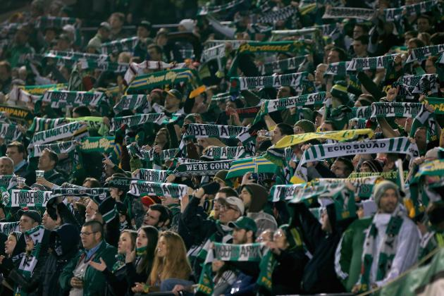 Timbers Army Unveils Tifo Before Real Salt Lake Match