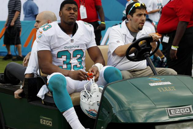 Dolphins Tailback Daniel Thomas Tore a Ligament in His Left Ankle