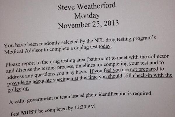 Giants Punter Steve Weatherford Gets Drug Tested 1 Day After Great Game