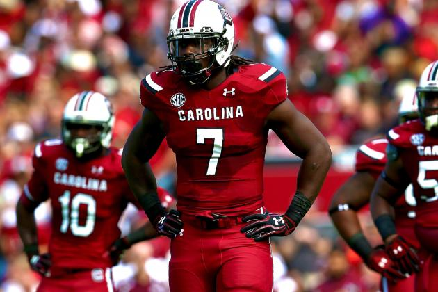 Steve Spurrier Expects Jadeveon Clowney to Walk out with Seniors vs. Clemson