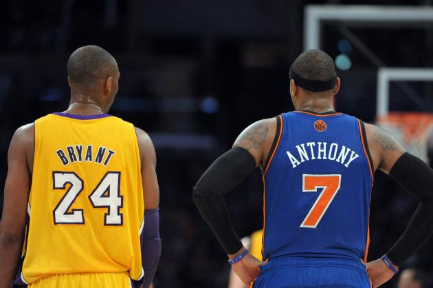 Carmelo Anthony Isn't Sure Kobe Bryant a Star Worthy of Joining