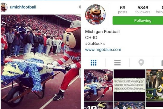 Ohio State Fan Hacks a Michigan Football Fan Instagram Account