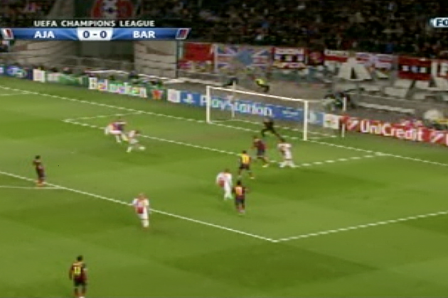 GIF: Thulani Serero, Danny Hoesen Give Ajax Lead vs. Barcelona