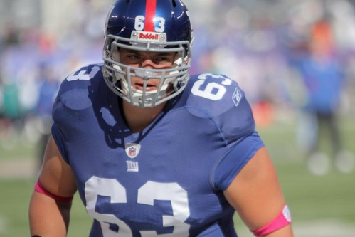 Giants Place Center Jim Cordle on IR