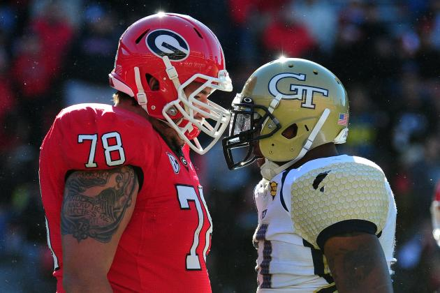 Georgia vs. Georgia Tech: TV Info, Spread, Injury Updates, Game Time and More
