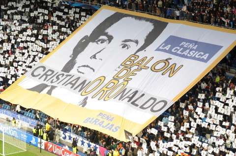 Real Madrid Fans Unveil Cristiano Ronaldo Ballon d'Or Banner
