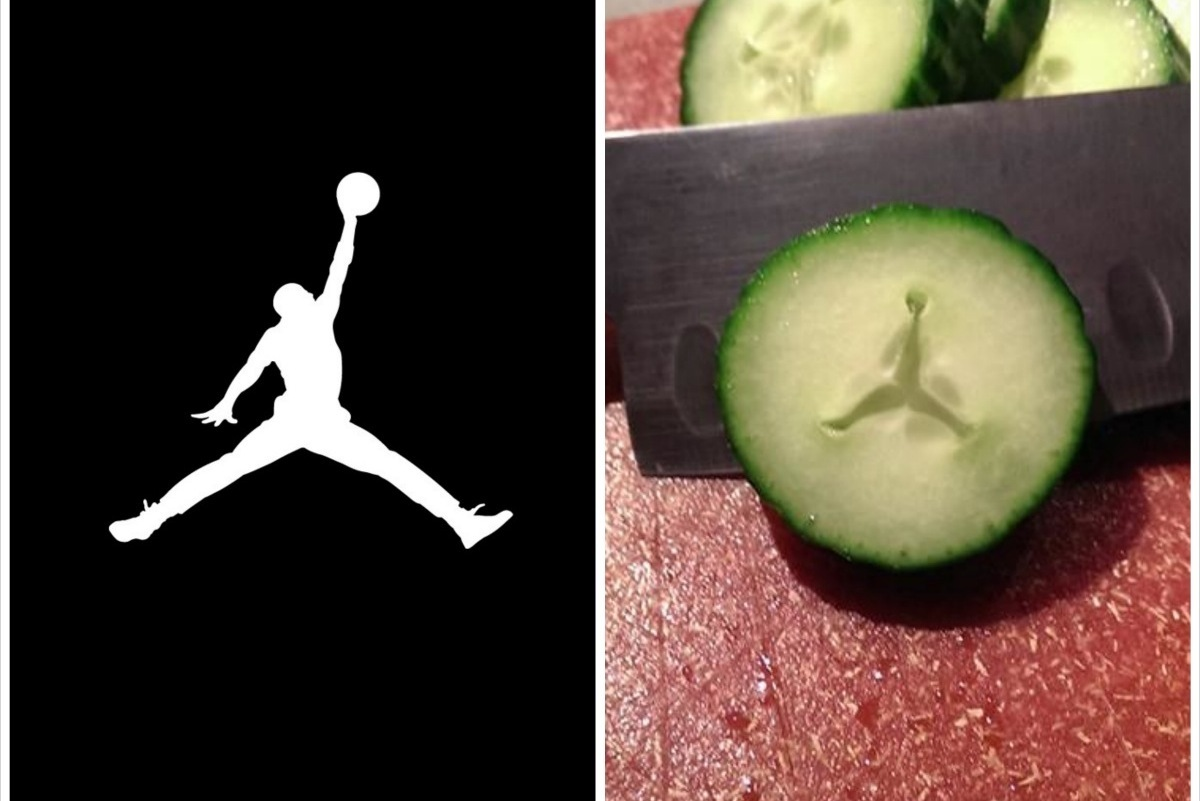 Reddit User Finds Air Jordan Jumpman Logo in His Cucumber