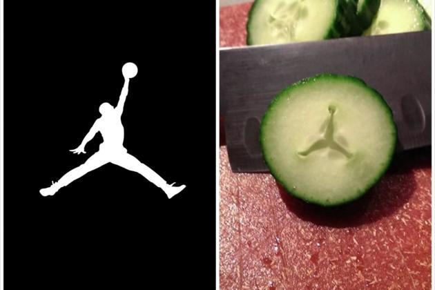 Reddit User Finds Air Jordan Jumpman Logo In His Cucumber Bleacher