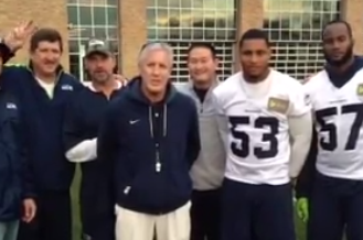 "Video: Pete Carroll, Other ""USC-Hawks"" Wish Trojans Good Luck on Saturday"