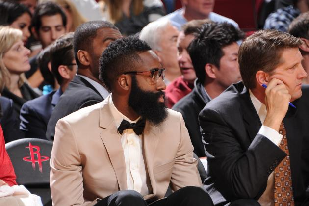Harden (Foot) out for 3rd Straight Game vs. Hawks
