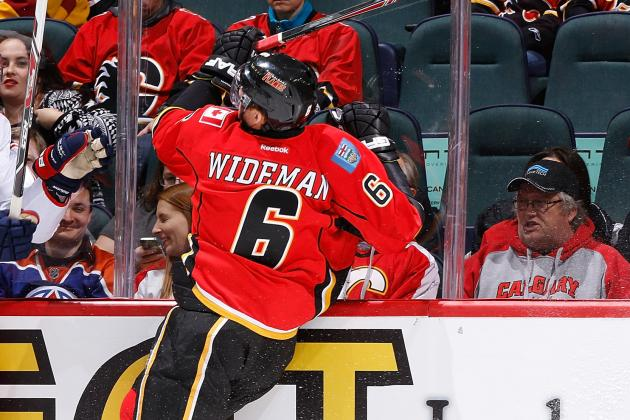 Flames Lose Wideman and Monahan