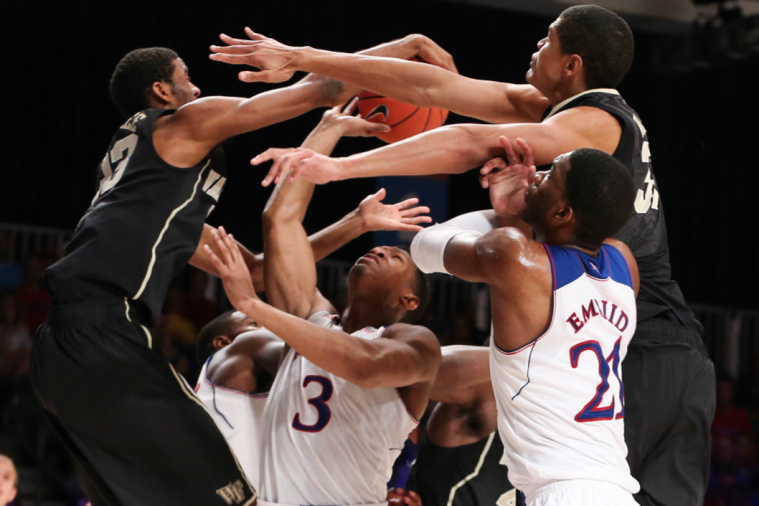 Basketball Can't Find Its Way Through All of the Arms in Wake Forest-Kansas Game