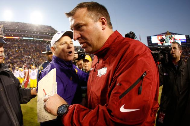Arkansas vs. LSU: Near Upset Win Proves Bret Bielema Can Handle Rigors of SEC