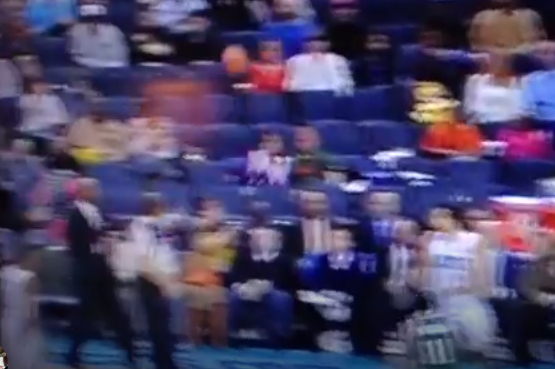 Gerald Henderson Badly Misses Teammate with Pass, Nails Innocent Fan in Head