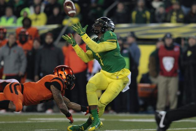 Josh Huff's Updated 2014 NFL Draft Stock After 3-TD Performance vs. Oregon State