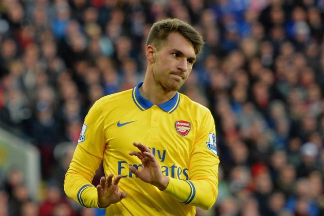 GIF: Aaron Ramsey Goal Puts Arsenal 3-0 Ahead Against Cardiff
