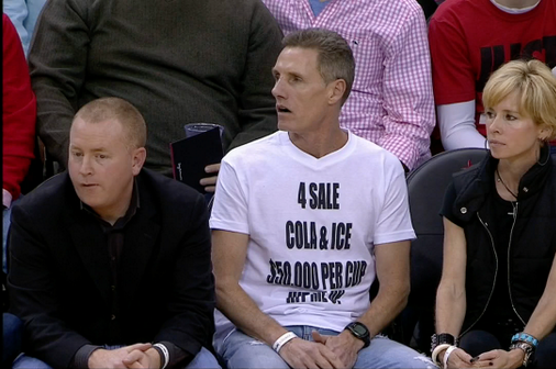 Fan Takes Shot at Nets Coach Jason Kidd with Shirt Mocking Soda Incident