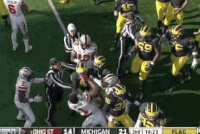 Ohio State and Michigan Players Get in a Major Brawl, Causing Multiple Ejections