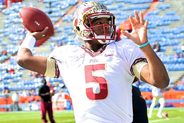 Jameis Winston Breaks FSU's Single-Season Passing TD Record vs. Florida