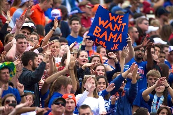 Florida Fan Wins for Best Sign