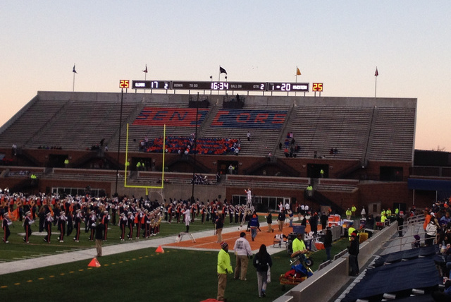 Illinois Student Section Reaches New Low Point as It Is Nearly Empty