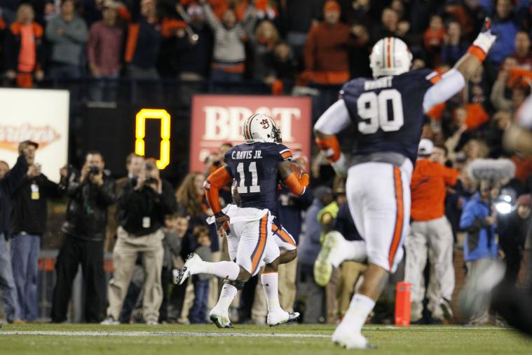 Auburn's Chris Davis Tweeted That He Wanted to Get on Kick Returns a Year Ago