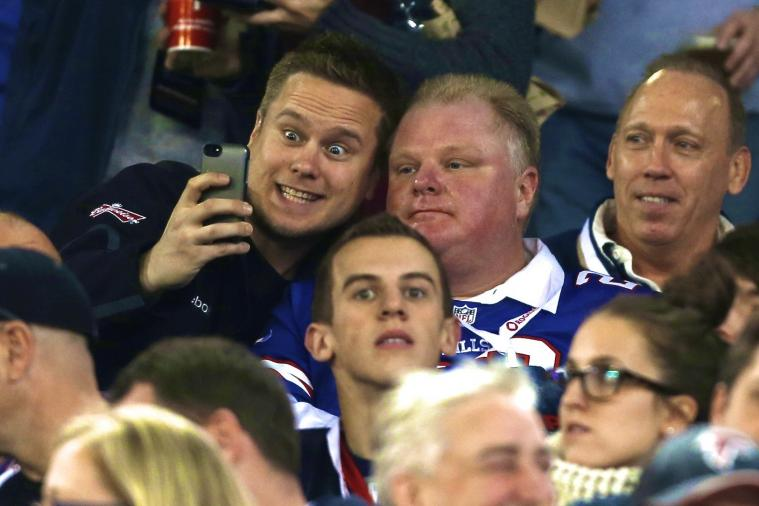 Toronto Mayor Rob Ford Attends Falcons-Bills Game, Possibly Stole Someone's Seat