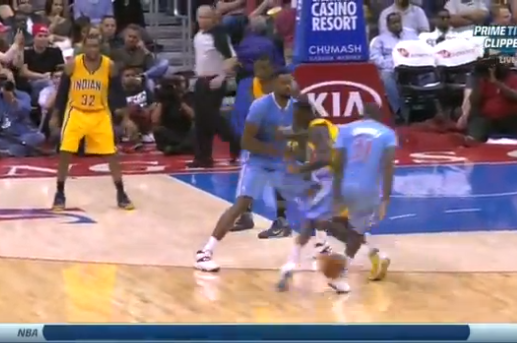 Jamal Crawford Puts Pacers' Lance Stephenson on Ice Skates with Insane Crossover