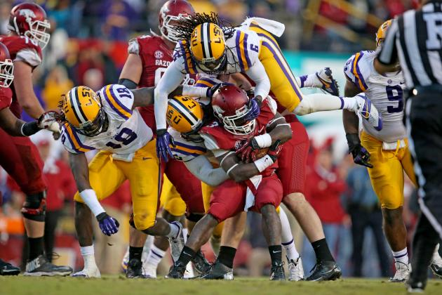 LSU Defense Struggled vs. Arkansas but Came Up Big When It Mattered Most