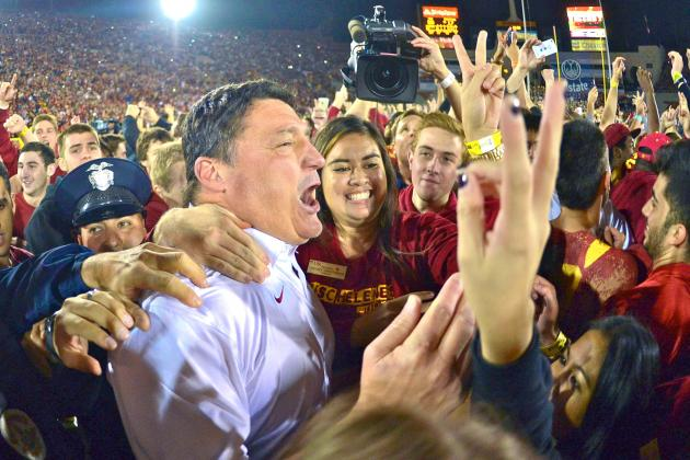 USC Players Lobbying Hard for Ed Orgeron as Head Coach, Should Pat Haden Listen?