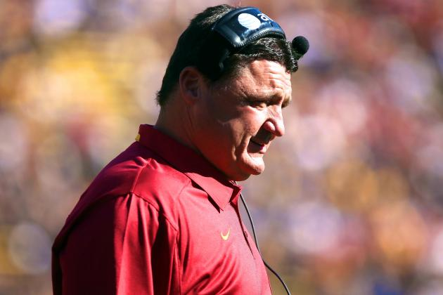 Updates on Ed Orgeron After Steve Sarkisian Signs with USC