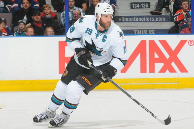 Sharks' Thornton Playing Through Swollen Eye