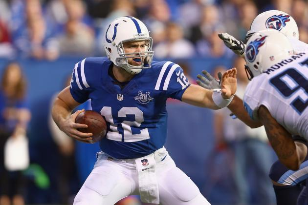 The Sacks Keep Piling Up on Andrew Luck