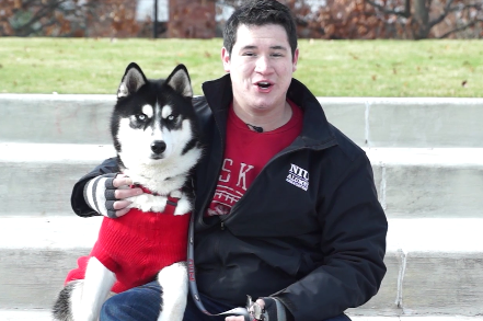 NIU Releases Training Video of Their New Mascot, Mission the Husky