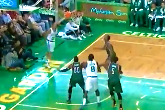 Avery Bradley Hits One of the Most Absurd Shots You'll Ever See
