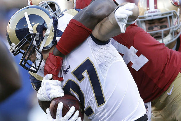 One Slip Wrecked Rams' Trick Play