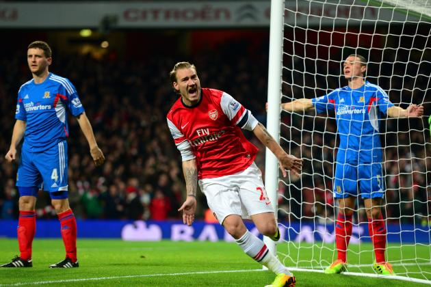 Nicklas Bendtner Scores Inside 2 Minutes on Arsenal Recall
